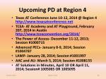 upcoming pd at region 4