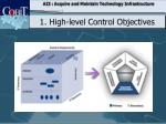 1 h igh level control objectives1