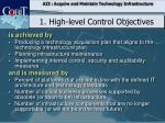 1 h igh level control objectives3