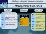 3 management guidelines