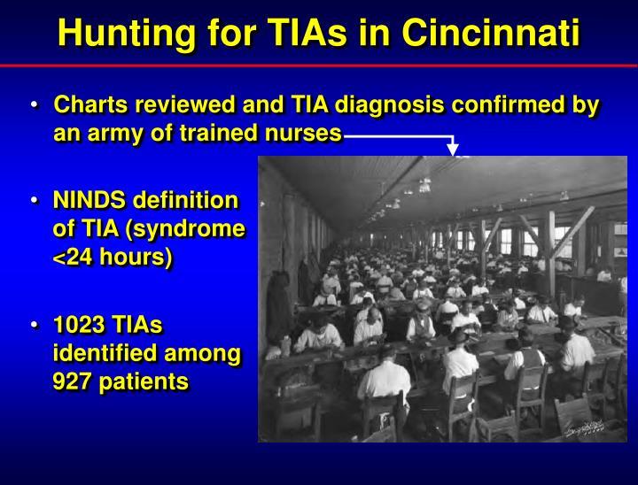 Hunting for TIAs in Cincinnati