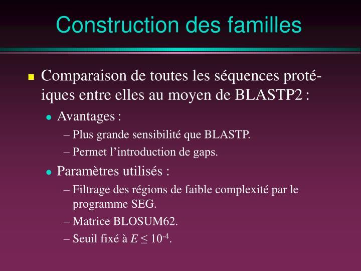 Construction des familles