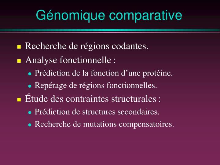 G nomique comparative