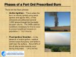 phases of a fort ord prescribed burn