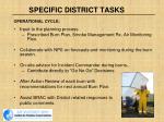specific district tasks