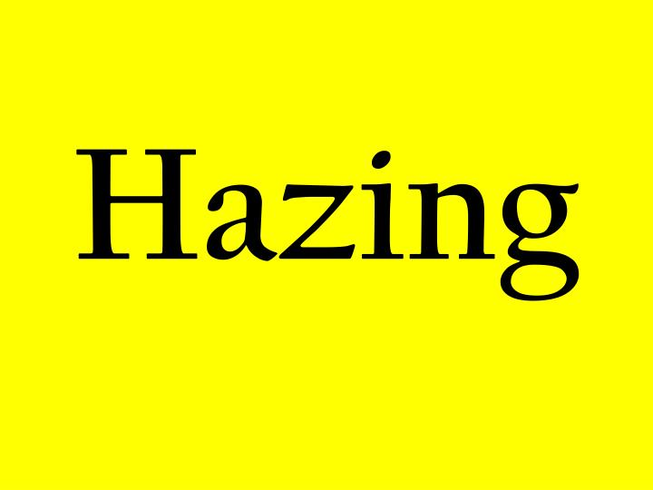 recent hazing facts The parents of stuart kelly, whose brother died in a one-punch attack in sydney, believe he was targeted in a sadistic college hazing ritual before he killed himself.