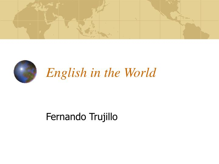 english in the world n.