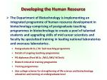 developing the human resource