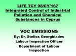 life tcy 98 cy 167 integrated control of industrial pollution and chemical substances in cyprus