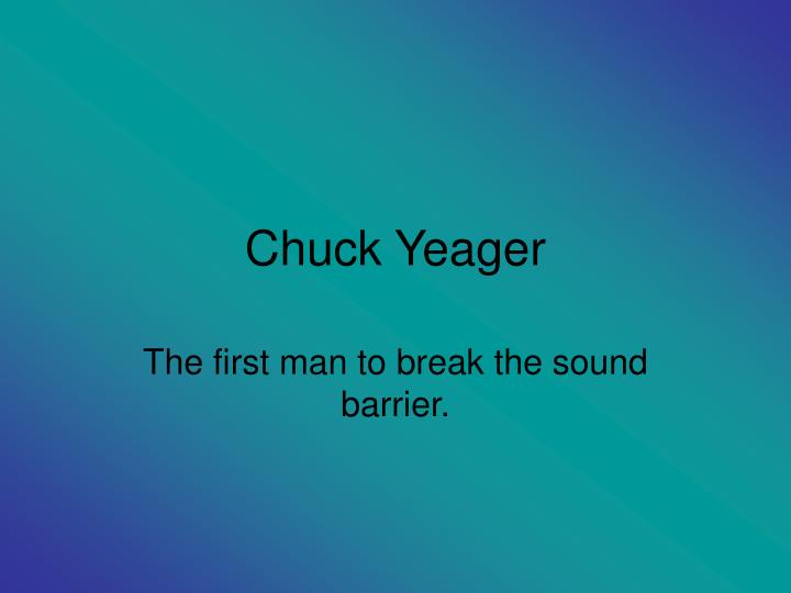 chuck yeager n.