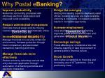why postal e banking