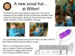 a new scout hut at wilton