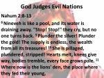 god judges evil nations
