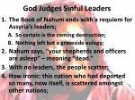 god judges sinful leaders1