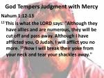 god tempers judgment with mercy1