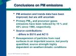 conclusions on pm emissions