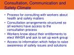 consultation communication and safety climate
