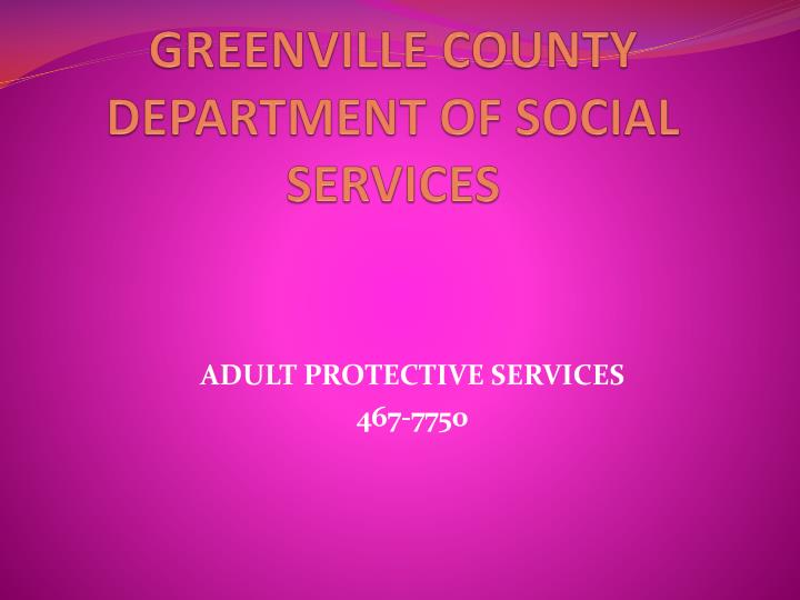 greenville county department of social services n.