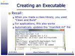 creating an executable
