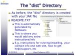 the dist directory