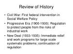 review of history