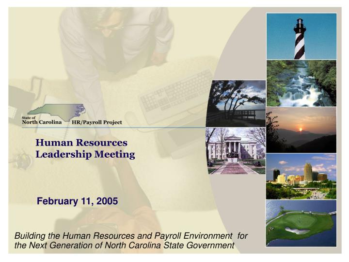 human resources leadership meeting n.