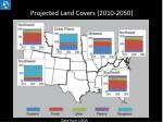 projected land covers 2010 2050