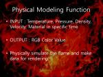 physical modeling function