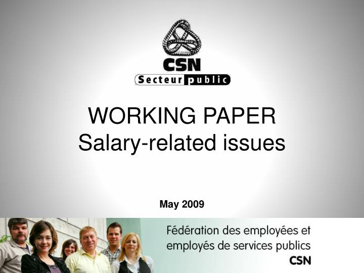 working paper salary related issues may 2009 n.