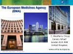 the european medicines agency ema