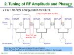2 tuning of rf amplitude and phase2