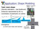 application shape modeling
