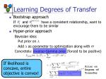 learning degrees of transfer