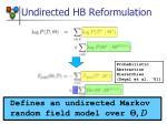 undirected hb reformulation