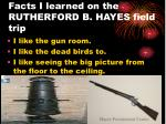 facts i learned on the rutherford b hayes field trip13