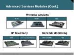 advanced services modules cont