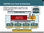 cef256 line card architecture