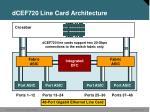 dcef720 line card architecture