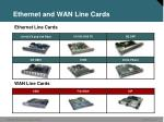 ethernet and wan line cards