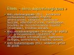 effets extra dopaminergiques