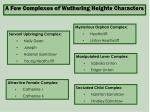 a few complexes of wuthering heights characters