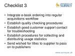 checklist 3