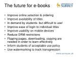 the future for e books