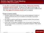 easa highiwc final meeting conclusion recommendations