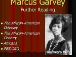 marcus garvey further reading