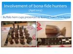 involvement of bona fide hunters april 2013