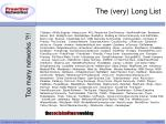 the very long list