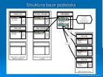 struktura baze podataka