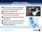 antibiotic rationale what should we choose