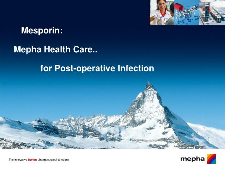 mesporin mepha health care for post operative infection n.